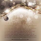 Постер, плакат: Веселого Рождества элегантный фон для Поздравительная открытка с шариками снежинки и Спаркс