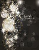 Постер, плакат: элегантный фон Рождество с местом для новый год текст приглашения
