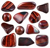 Set Of Various Bulls Eye Mineral Stones And Gems poster