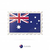 Постер, плакат: Postage Stamp With The Image Of Australia Flag
