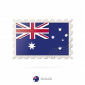 Постер, плакат: Postage Stamp With The Image Of Australia Flag