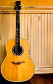 image of acoustic guitar  - acoustic guitar unplugged - JPG