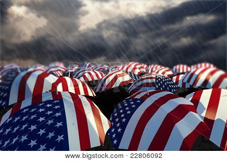 USA Umbrella Flags