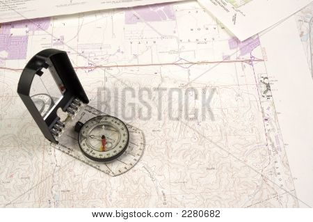Topo Map And Compass
