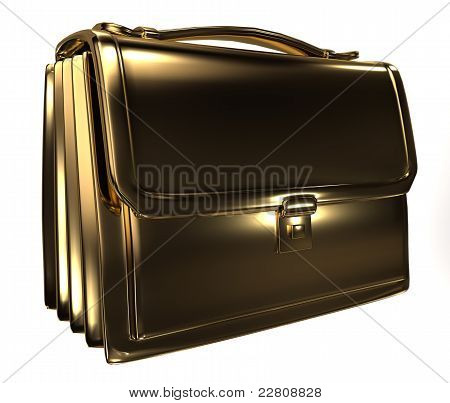Business gold bag