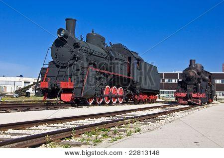 Antiga locomotiva a vapor