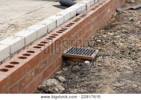 Drain System On Building Site
