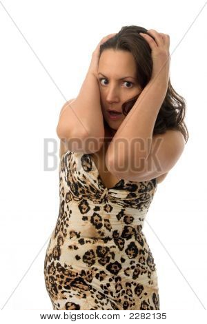 Woman In Great Surprise