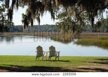 Chairs Overlooking Wetlands