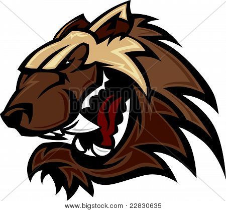 Wolverine Badger Mascot Head Illustration