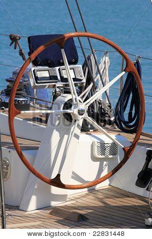sailing boat close up