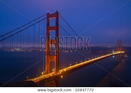 Golden Gate Bridge Night Scene