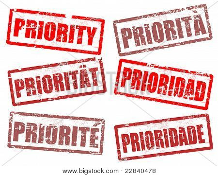 Set Of Priority Stamps