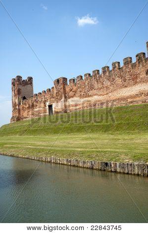 Castelfranco Veneto (treviso, Veneto, Italy): Ancient Walls And Moat