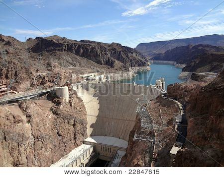 Hoover Dam Overhead Seen From Arizona Side