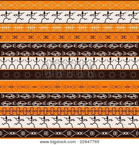 African Texture, Orange Pattern