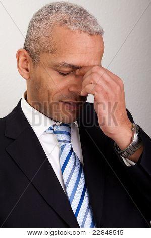 Stressed Businessman Man
