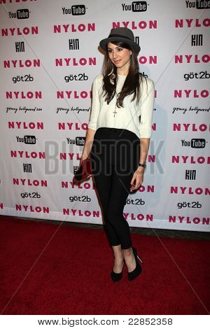 LOS ANGELES - MAY 12: Troian Avery Bellisario at the Nylon Magazine Young Hollywood Party 2010 at the Hollywood Roosevelt Hotel in Los Angeles, California on May 12, 2010