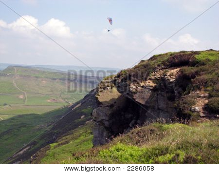 Paragliding And The Rocks