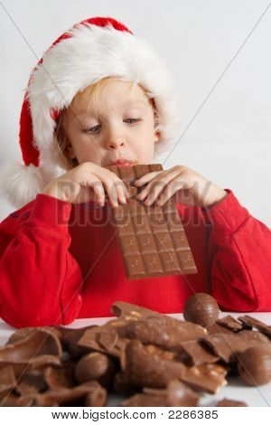 Little Chocolate Santa