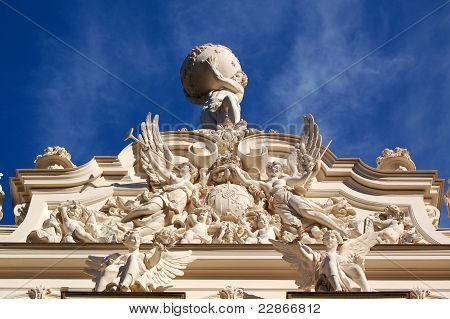 Statue Of Hercules On Linderhof Castle