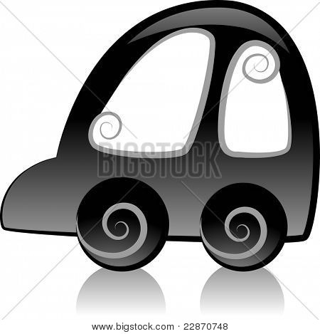 Illustration Featuring the Silhouette of a Car