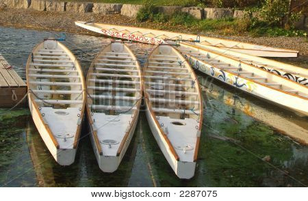 Docked Dragon Boats