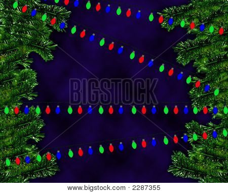 Branches With Colorful Bulb Strings