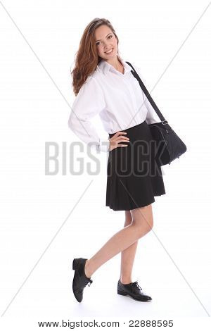 Cute Secondary School Teenage Girl In Uniform