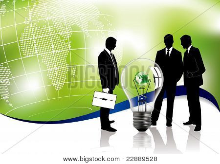 Business Meeting Concept About Global Ecology