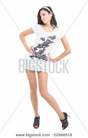 Cute women standing and posing