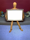 Manikin With Frame /E poster