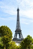 The Eiffel Tower As Seen From The Trocadero, Across The Seine River poster