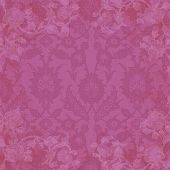 foto of brocade  - Digitally created background in bright pink brocade with white floral accents - JPG