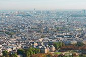 Birdeye View Of Paris With Notre Dame Cathedral, France poster