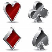 Постер, плакат: 3D покер знаки