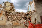 The Rubble Of The Earthquake In Abruzzo (italy)