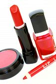 pic of femenine  - selection of make up paraphernalia - JPG