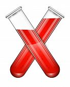 Vector Test Tubes Filled With Blood .vector Test Tubes Filled With Blood .illustration Of Scientific poster