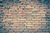 Brick Wall Texture Or Brick Wall Background. Old Bricks Wall Pattern. Brick Wall Building And Brick  poster