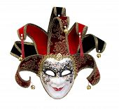 image of masquerade mask  - A beautiful carnivale mask from venice Italy - JPG