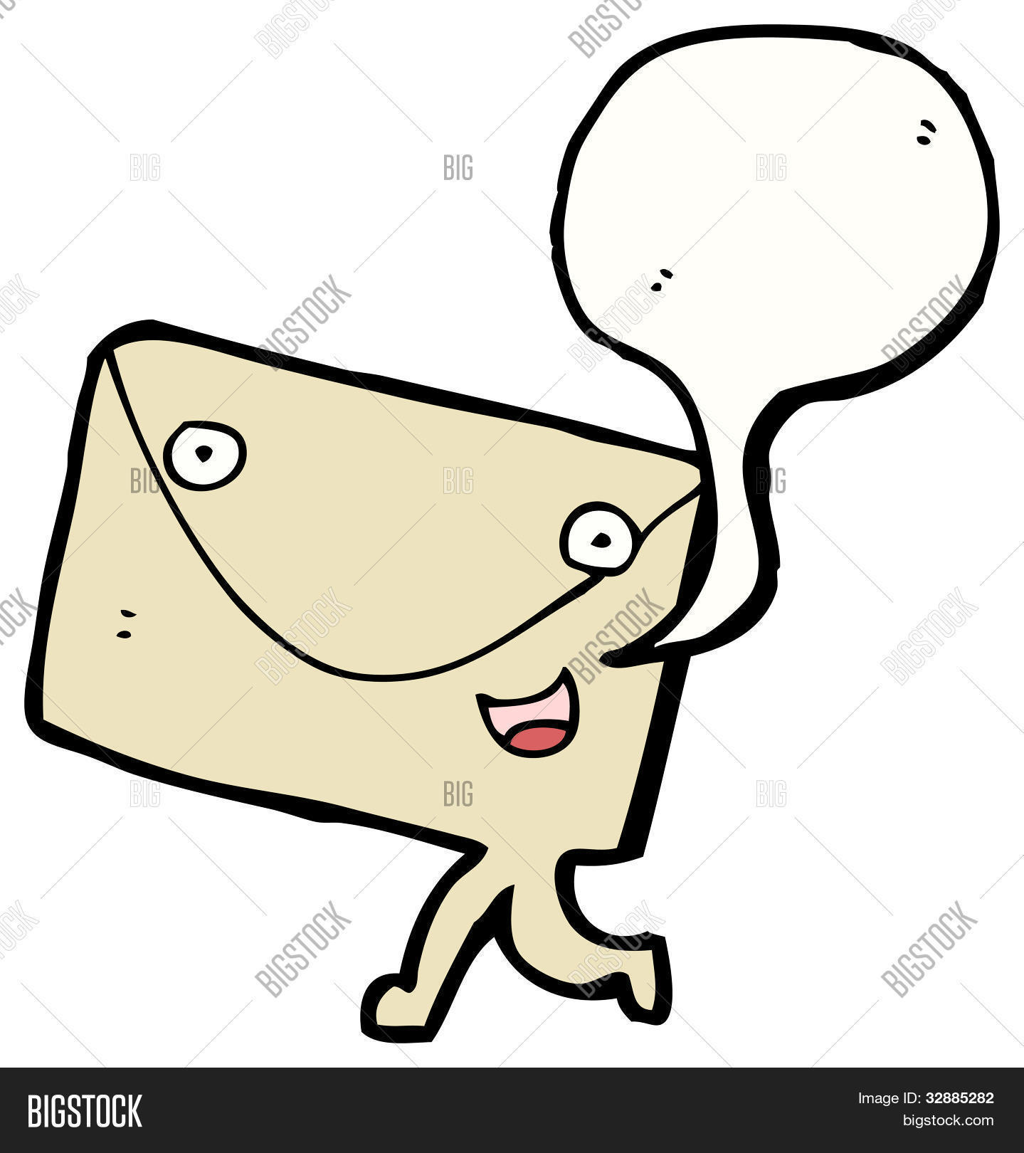 3 Letter Cartoon Characters : Cartoon letter envelope character stock photo