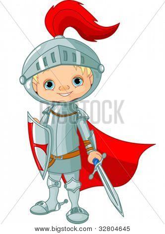Ilustração de cavaleiro pouco