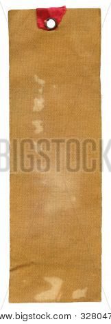 Textile Prise Label Isolated On White