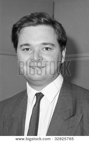 LONDON - DECEMBER 12: Jeremy Galbraith, Conservative party Parliamentary Candidate for Newham North East, attends a photo call at Conservative Central Office on December 12, 1990 in London.