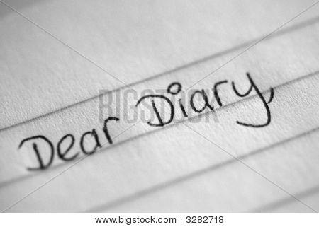 Liebes Tagebuch-Eintrag