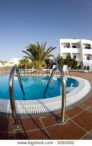 Swimming Pool Greek Islands Santorini