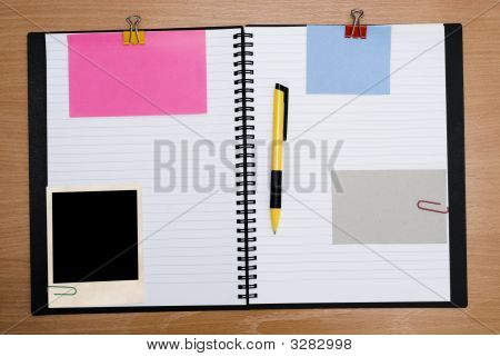 Spiral Notebook On Wood