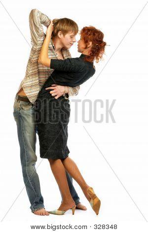 Dancing Loving Couple.