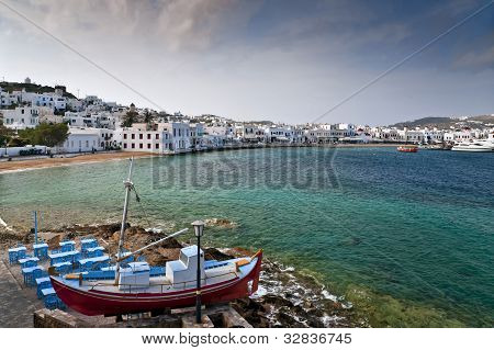 Mykonos View With Taverna In Front
